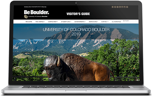 University of Colorado Visitor Guide Website